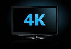 affichage de la télévision 4K Photo libre de droits
