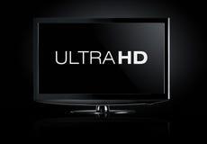 affichage de la télévision 4K Photographie stock libre de droits