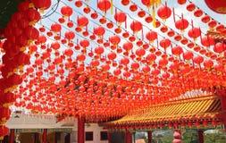 Affichage de lanterne au temple Image stock