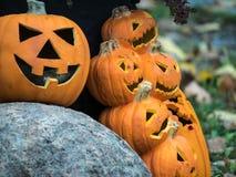 Affichage de lanterne de Jack O pour Halloween Photos libres de droits
