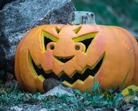 Affichage de lanterne de Jack O pour Halloween Images stock