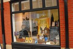 Affichage de librairie à Norwich, Angleterre Photos libres de droits