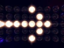 Affichage de lumière de flèche Photographie stock