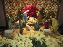 Affichage de nativité de réveillon de Noël photographie stock