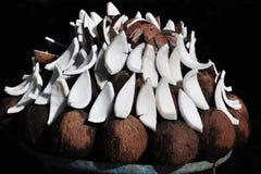 Affichage de noix de coco Photos stock
