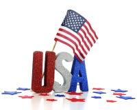 Affichage de patriotisme des Etats-Unis Photographie stock