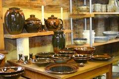 Affichage de poterie Images stock