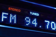 Affichage de radio de tuner de FM Station numérique stéréo de fréquence accordée photo stock