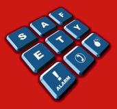 Affichage de sécurité Image stock