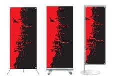 Affichage de stand de drapeau avec le fond d'identité Illustration Stock