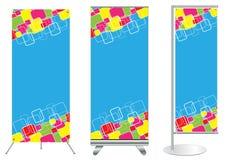 Affichage de stand de drapeau de vecteur Illustration Stock