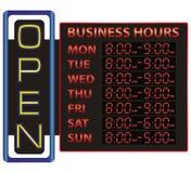 Affichage de temps de Digital des affaires Image libre de droits