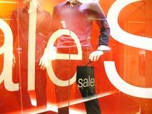 Affichage de vente de mode Photographie stock libre de droits