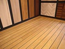 Affichage des étages de parquet de bois dur Images libres de droits