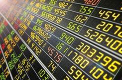 Affichage des citations de marché boursier Images stock