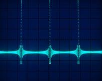 Affichage des formes d'onde photos libres de droits