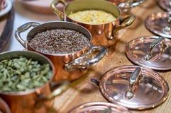Affichage des grains Photos stock