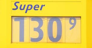 Affichage des prix à une station-service Image libre de droits