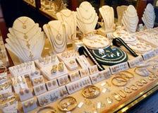 Affichage du marché de bijoux photographie stock libre de droits
