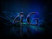 affichage du smartphone 4g Images libres de droits