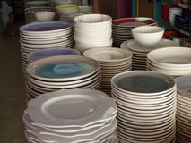Affichage en céramique de vaisselle Photographie stock