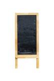 Affichage extérieur de tableau noir vide de menu d'isolement sur le blanc Photos stock