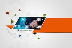 Affichage futuriste d'écran tactile Photo stock