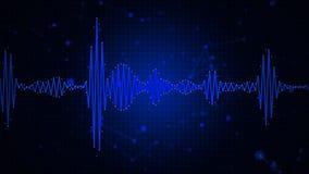Affichage graphique de spectre d'abrégé sur audio forme d'onde Photographie stock