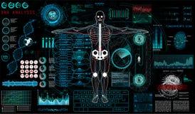 Affichage haut de tête HUD UI pour l'APP médical illustration de vecteur