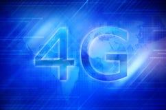affichage intelligent du téléphone 4G Photographie stock