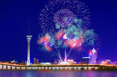 Affichage international 02 de feux d'artifice de Macao Photo stock