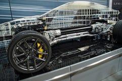 Affichage interne de mécanique du model 2010 de Lexus Image stock