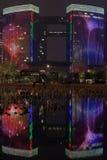 Affichage léger, Qianjiang, Hangzhou, Chine Image libre de droits