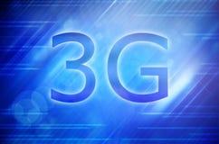 affichage lustré du smartphone 3g utilisant la fumée colorée Photo stock