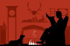 Affichage par la cheminée Images stock