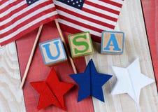 Affichage patriotique Photographie stock