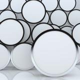 affichage rond blanc abstrait blanc du cadre 3D Photo libre de droits