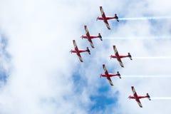 Affichage rouge de flèches de jour d'Australie Image stock