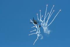 Affichage solo d'Apache AH-64D image libre de droits