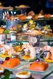 Affichage somptueux de nourriture Photos stock