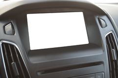 Affichage vide d'affichage à cristaux liquides de tableau de bord photographie stock