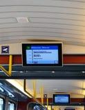 Affichages de toit et d'itinéraire de tram de Zurich Image libre de droits