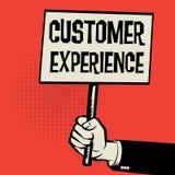 Affiche à disposition, expérience de client de concept d'affaires illustration stock