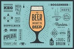 Affiche à la bière ou pas à la bière Photos libres de droits