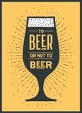 Affiche à la bière ou pas à la bière Photo libre de droits