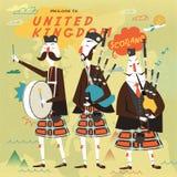 Affiche écossaise de musique folk illustration de vecteur