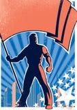 Affiche 2 van de Drager van de vlag Stock Foto
