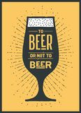 Affiche aan Bier of niet aan Bier Royalty-vrije Stock Foto
