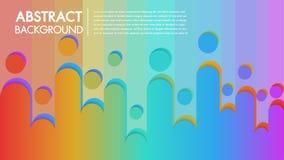 Affiche abstraite colorée de fond frais avec le modèle géométrique plat Le fluide forme la composition avec des gradients à la mo illustration libre de droits