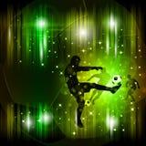 Affiche abstraite colorée du football Image stock